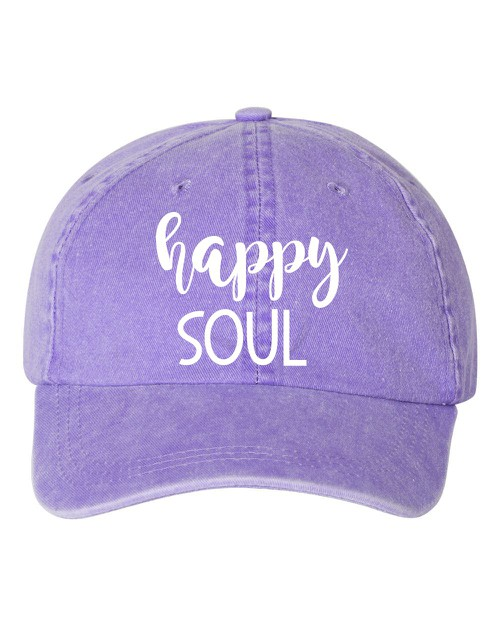 Happy Soul Embroidered Hat - orangeshine.com