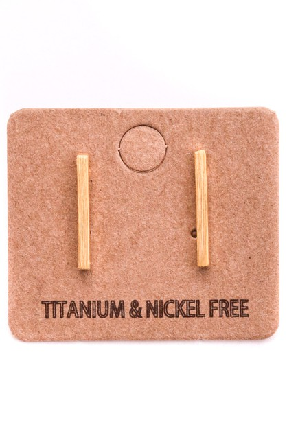 Simple Dainty Modern Bar Earrings - orangeshine.com