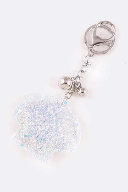 Glitter Shell Iconic Key Chain - orangeshine.com