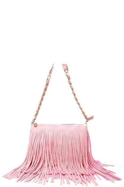 TRENDY DOUBLE LAYER TASSEL CROSSBODY - orangeshine.com