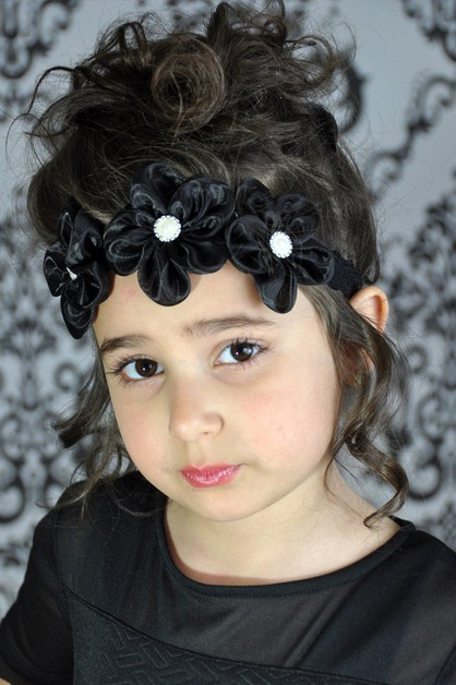 Kids Pearl Mesh Flowers Headband - orangeshine.com