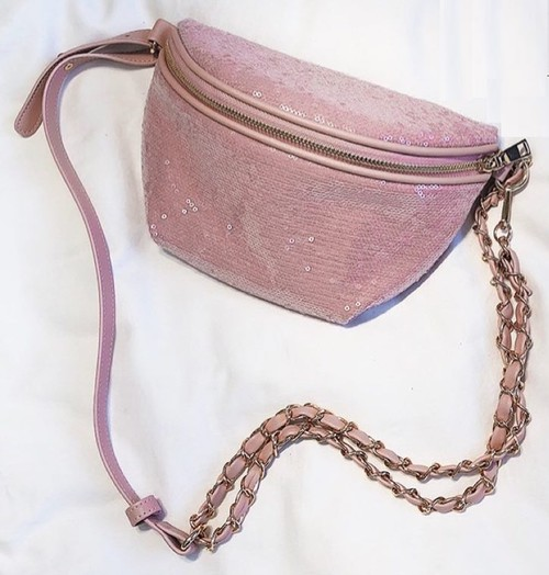 Sequin and PU Belt Bag - orangeshine.com