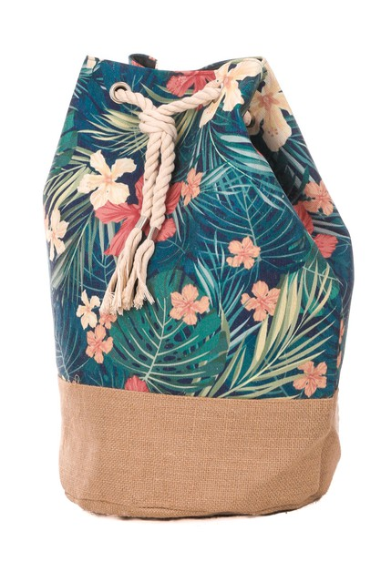 Floral Print Draw String Backpack - orangeshine.com