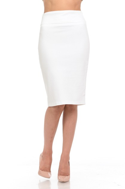 Plus size basic work office skirt - orangeshine.com
