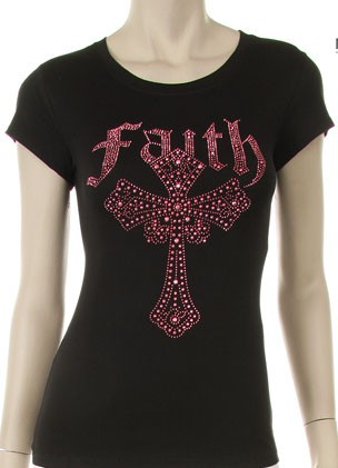 PINK FAITH CROSS  - orangeshine.com