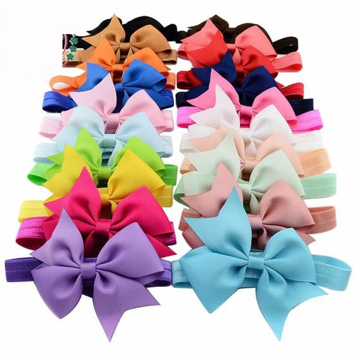 Pack of 20 Baby Bow headbands - orangeshine.com