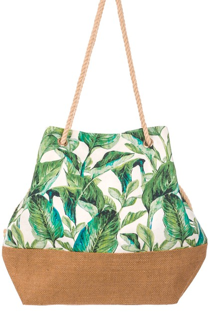 Tropic Leafs Drawstring Bag - orangeshine.com