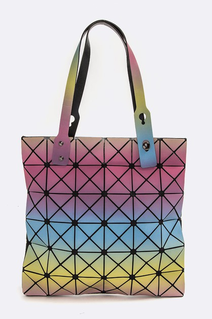 Geo Structure Iconic Tote Bag - orangeshine.com