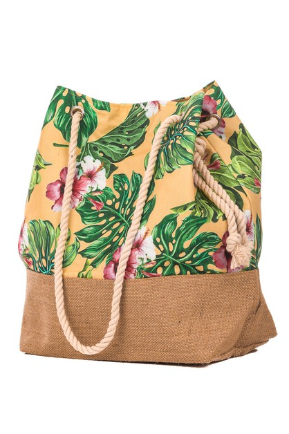 Rain forest Flowers Drawstring Bag - orangeshine.com