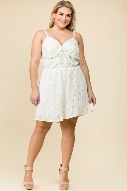 PLUS SIZE PINEAPPLE ROMPER - orangeshine.com