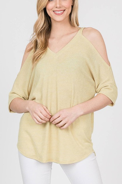 COLD SLEEVE KNIT TOP - orangeshine.com