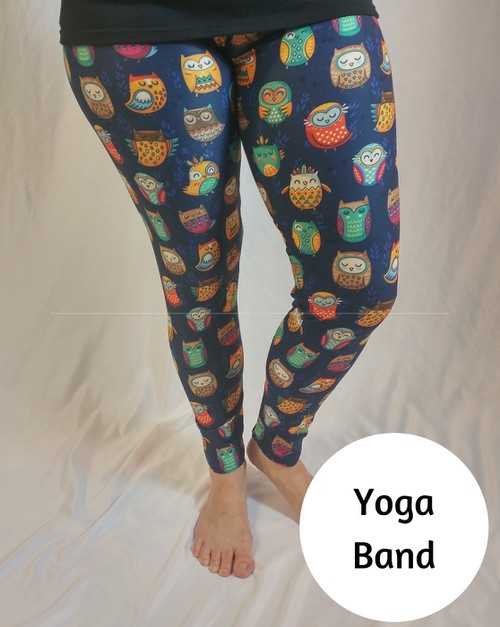 Sleepy Owls Womens Leggings - orangeshine.com