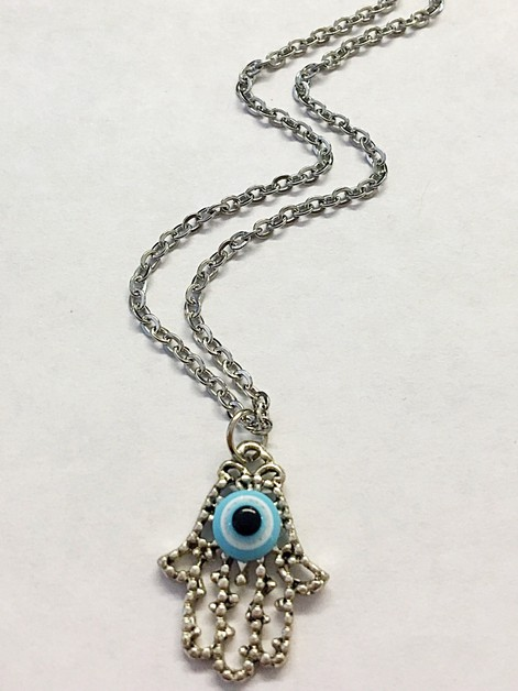 Evil eye hamsa necklace - orangeshine.com