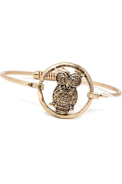 Owl Mix Metal Adjustable Bracelet - orangeshine.com