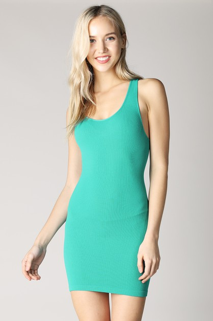 Ribbed Racer Back Dress - orangeshine.com