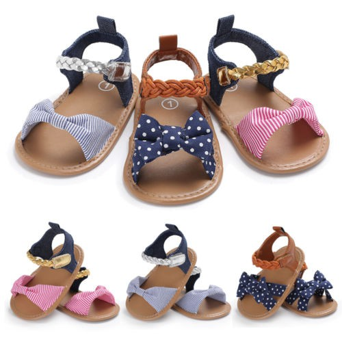 Baby Braided sandals crib shoes - orangeshine.com