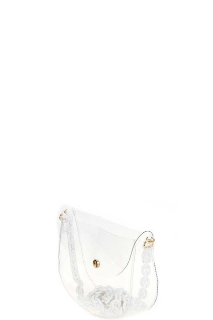 TRANSPARENT NEON CROSSBODY BAG - orangeshine.com