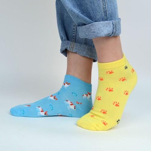 Women Dog Low Cut Fun Socks - orangeshine.com