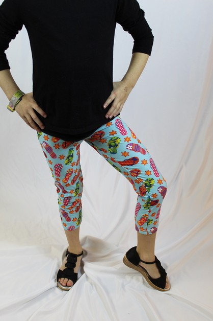 Flip Flop Girls L-XL Capris - orangeshine.com