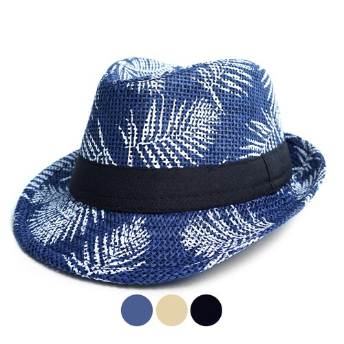 Tropical Leaves Kids Fedora Hats - orangeshine.com