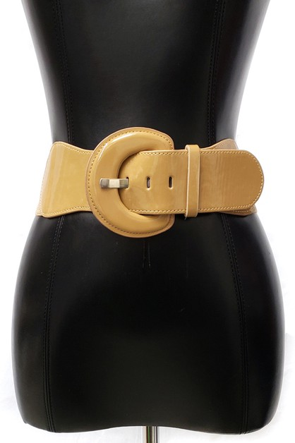 80s Mod Shinny Western Fashion Belt - orangeshine.com
