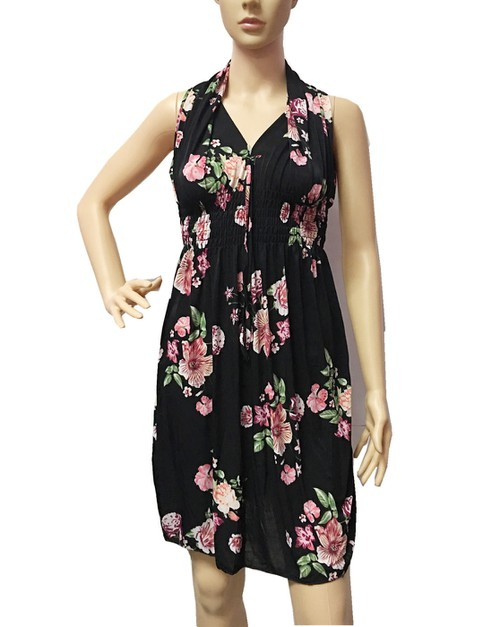 2699 SHORT DRESS FLOWERS PRINT - orangeshine.com