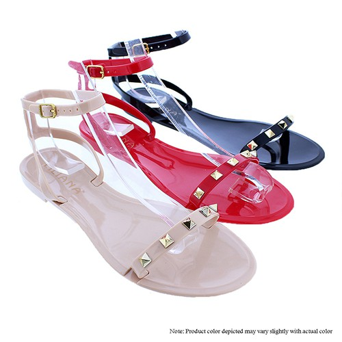 JELLI-38 Flat Jelly Sandals - orangeshine.com