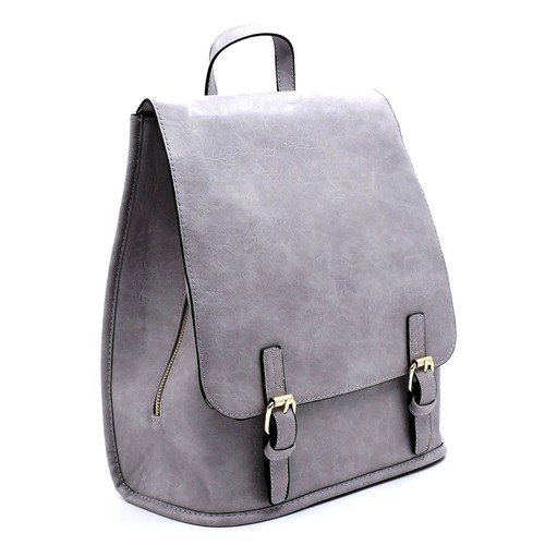 Fashion Buckle Flapover Backpack - orangeshine.com
