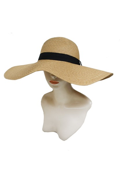 Floppy with Black Band Sun Hat - orangeshine.com