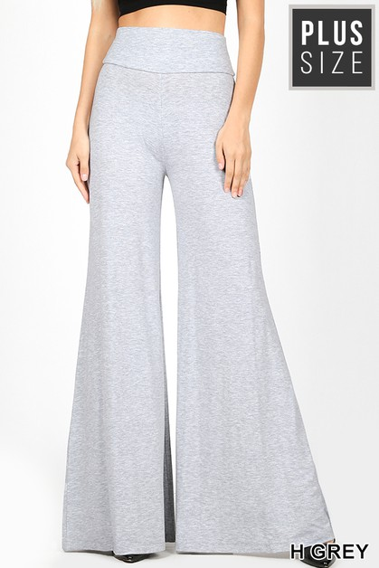 PLUS PREMIUM FABRIC PALAZZO PANTS - orangeshine.com