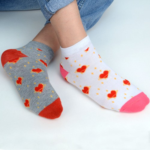 Women Heart Valentines Day Socks  - orangeshine.com
