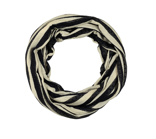 Lace Striped Infinity Scarf - orangeshine.com