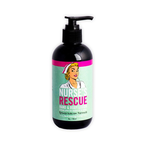 Nurse`s Rescue - Hand & Body Lotion 8 oz - orangeshine.com