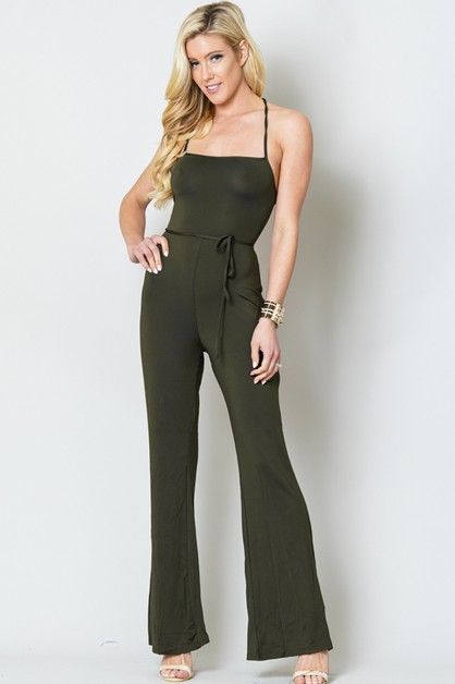 SLEEVELESS JUMPSUIT OPEN BACK - orangeshine.com