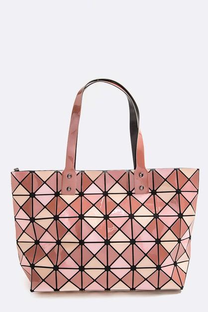Geo Structured Iconic Tote - orangeshine.com