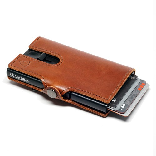 Card Wallet Brown Leather and Black - orangeshine.com