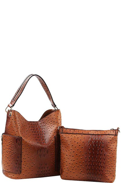 CROCO PATTERN SATCHEL  - orangeshine.com