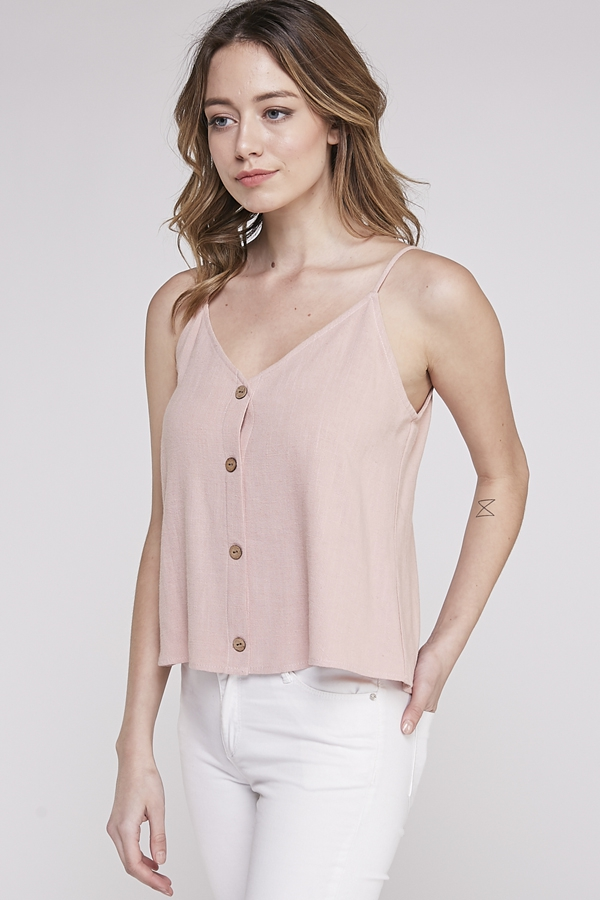 BUTTON DOWN CAMI TOP - orangeshine.com