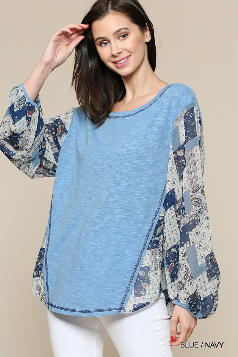 Round Neck Solid Knit Top - orangeshine.com
