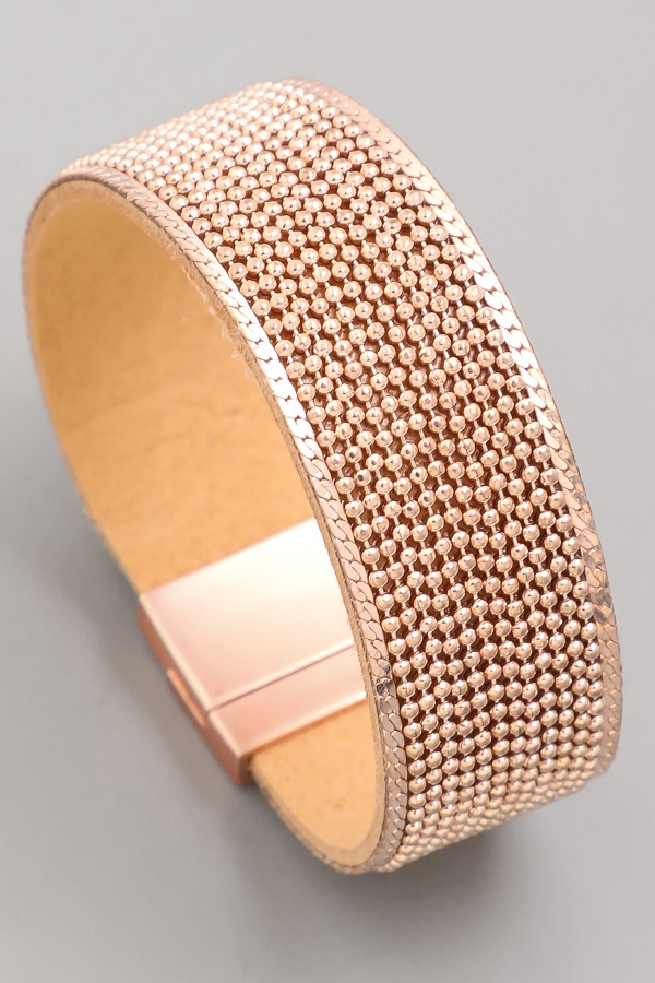 Chain Leather Magnetic Bracelet - orangeshine.com