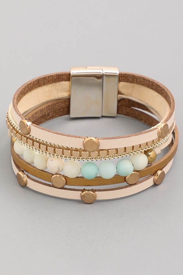 Stylish Multi Strand Magnetic Bracelet - orangeshine.com
