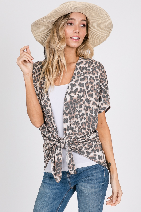 ANIMAL PRINT CARDIGAN - orangeshine.com