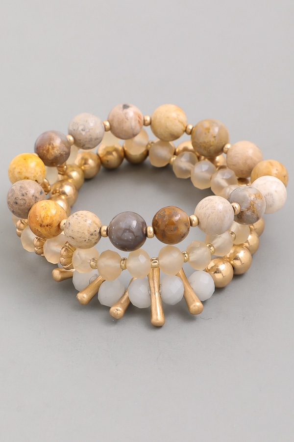 Mixed Beads Bracelet Set - orangeshine.com