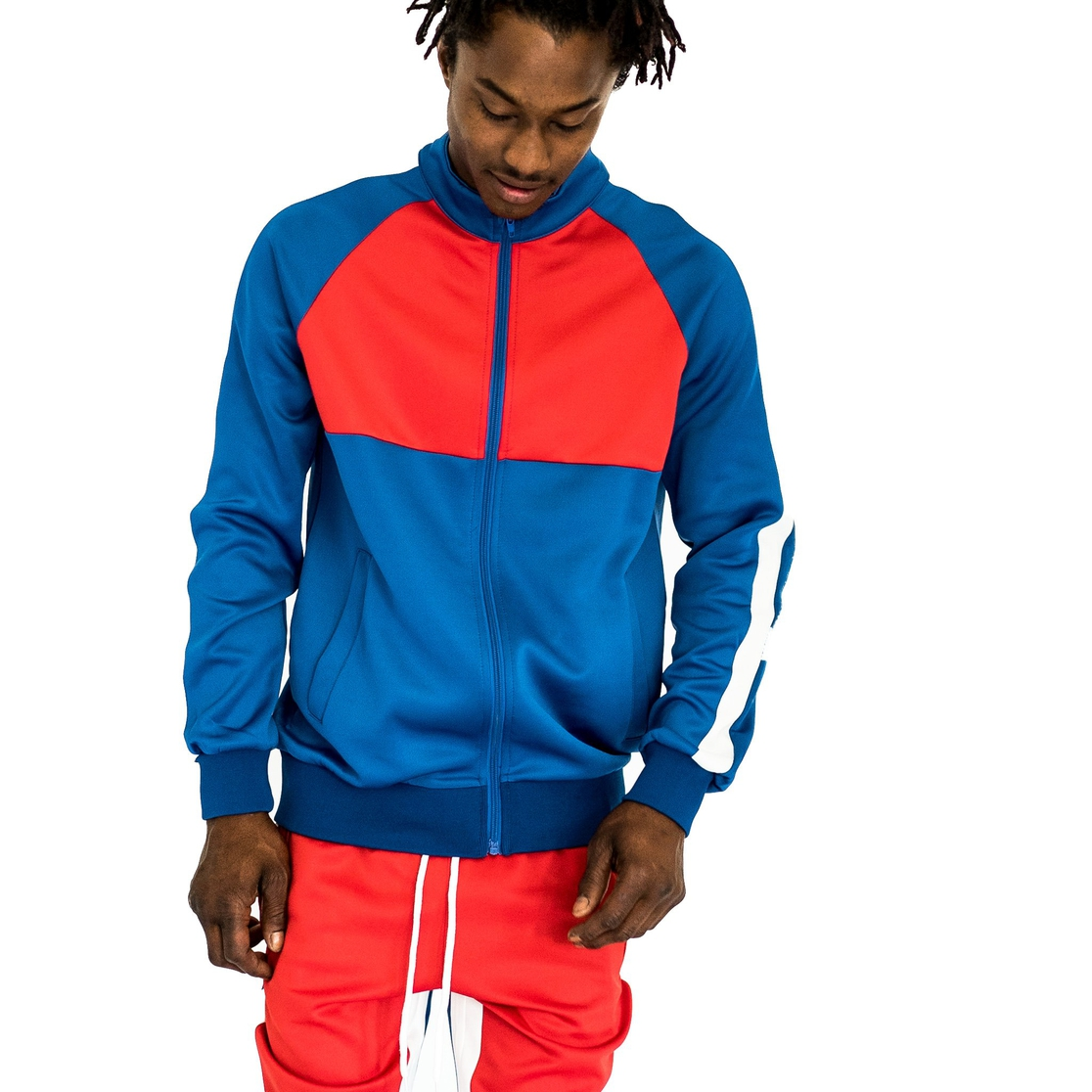 Color Block Track Suit 2 pc Set - orangeshine.com
