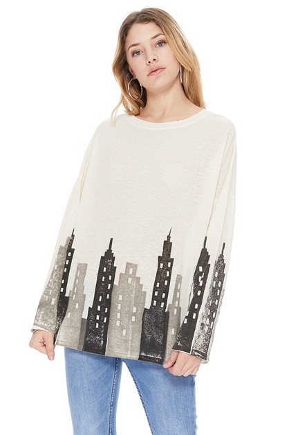 TPARTY WOMEN LONG SLEEVE GRAPHIC TOP - orangeshine.com