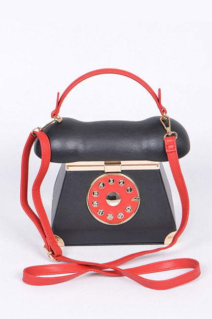 Telephone Iconic Make Up Box Clutch - orangeshine.com