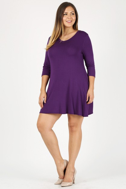 Plus Size tunic TOP  - orangeshine.com
