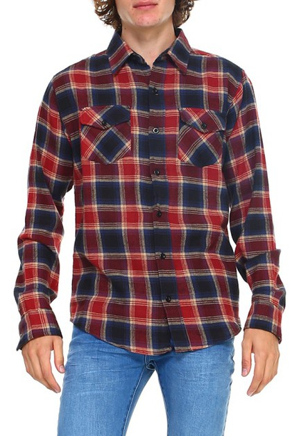 HAWKS BAY PLAID FLANNEL SHIRT - orangeshine.com