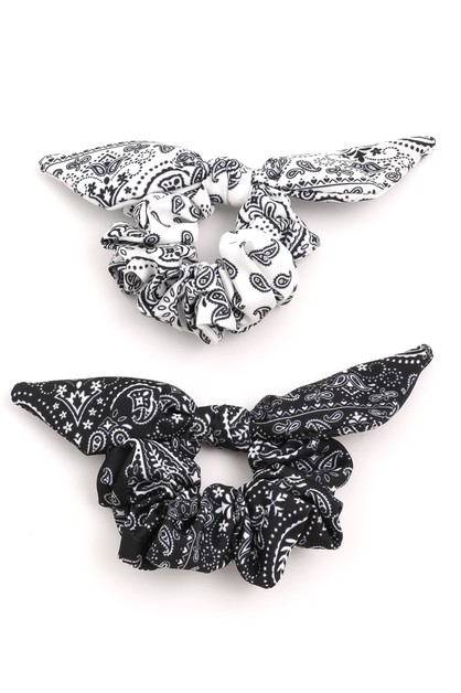 2 Piece Paisley Hair Scrunchies - orangeshine.com