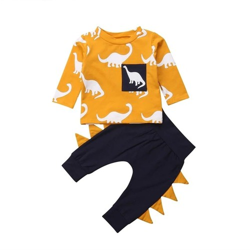 2PC Dinosaur Print Top Bottom set - orangeshine.com